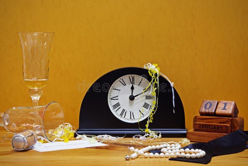 Do ano novo do partido vida ainda imagens de stock royalty free