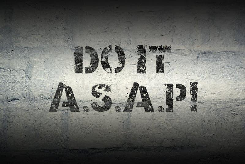 Do it ASAP GR stock photos