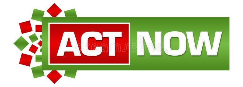 Do ato barra circular vermelha verde agora ilustração do vetor