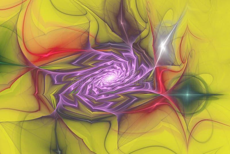 Do caleidoscope geom?trico dos testes padr?es das formas naturais do Fractal fundo m?gico ilustração stock