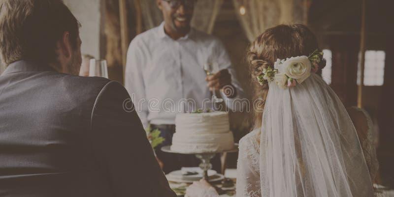 Do casamento de Dinning da celebração felicidade junto fotos de stock royalty free