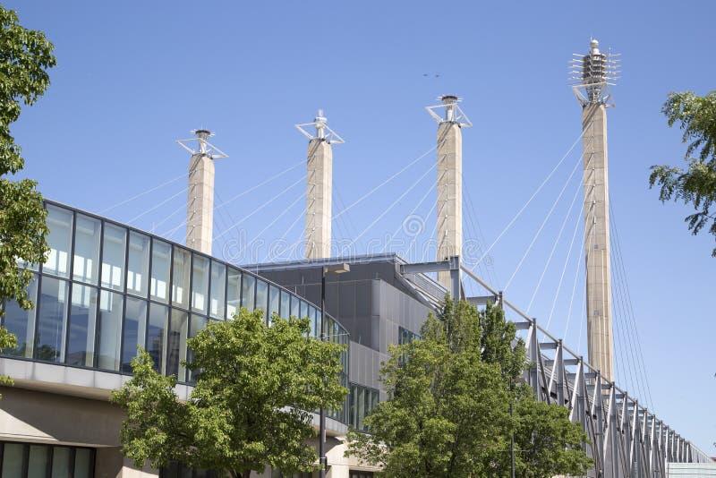 Do centro de convenções baixa dentro da cidade Kansas Missouri foto de stock royalty free