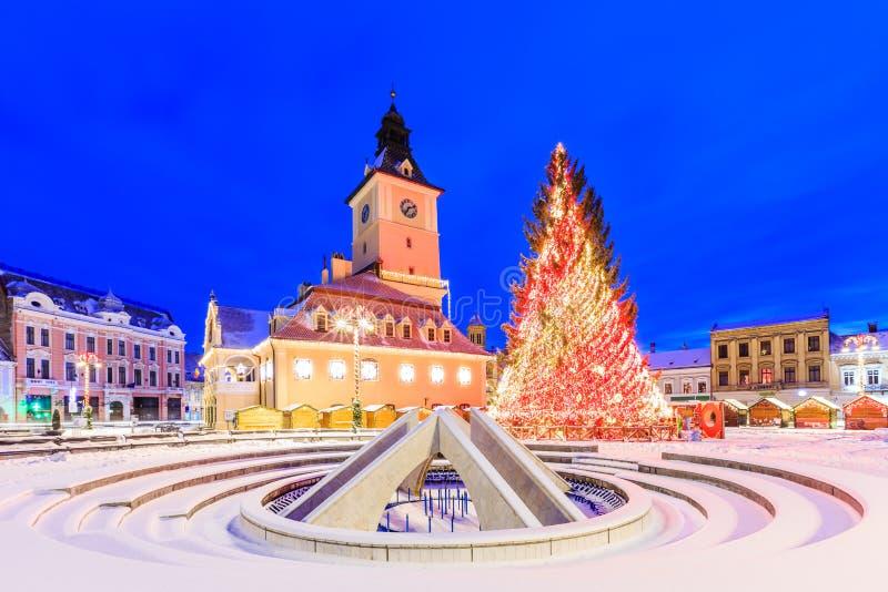 do centrum miasta brasov stary Romania obraz royalty free