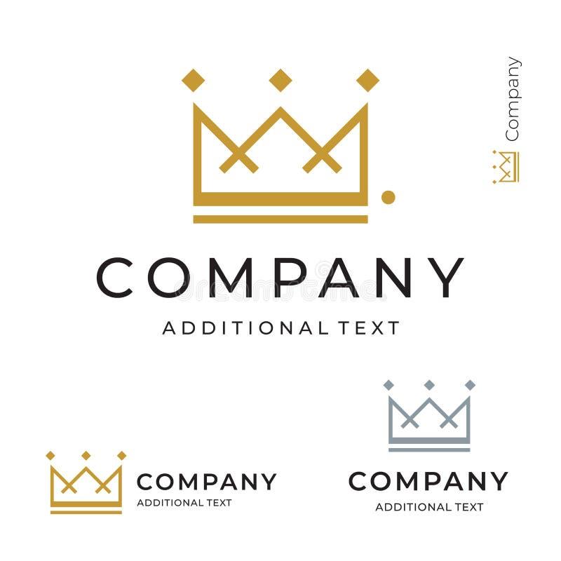 Do conceito comercial do símbolo de Logo Modern Identity Brand Icon da coroa molde ajustado ilustração do vetor