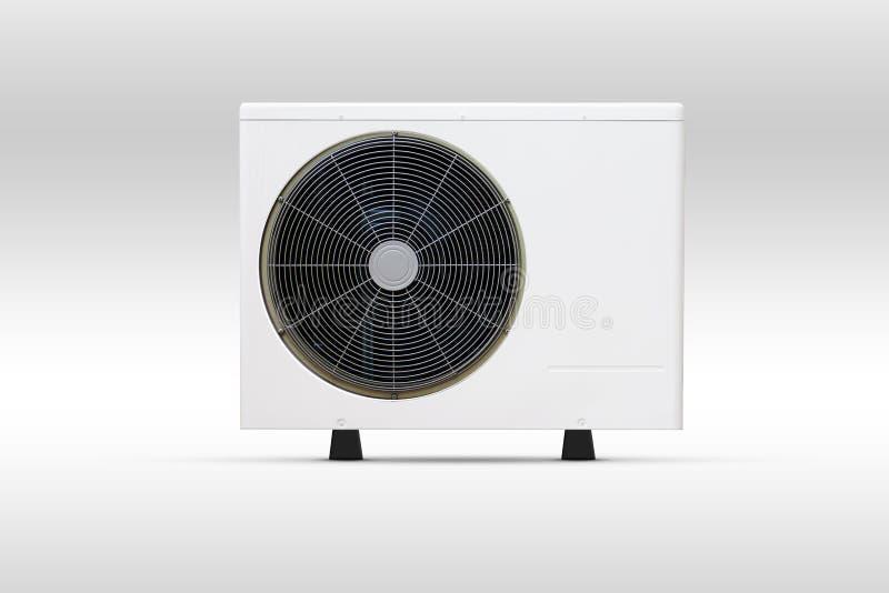 Do condicionamento de ar do fã da bobina unidade da porta para fora foto de stock royalty free