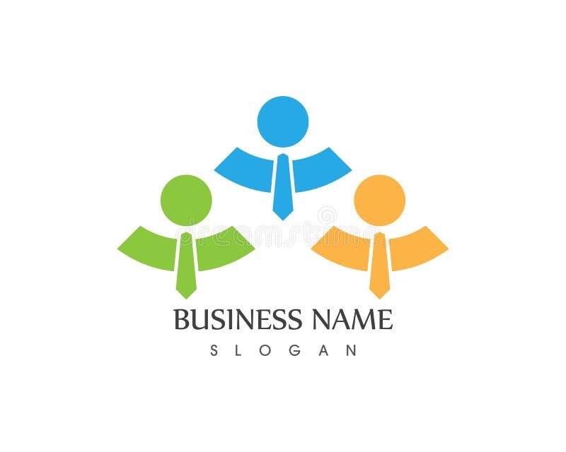 Do cuidado do logotipo executivos de conceito de projeto ilustração do vetor