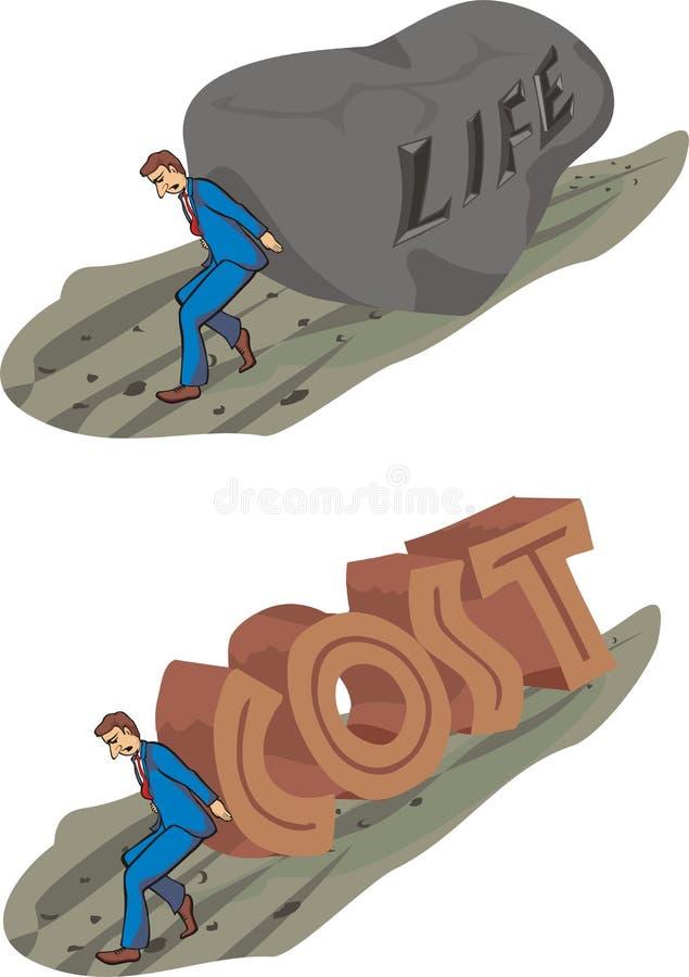 Do custo de vida ilustração do vetor
