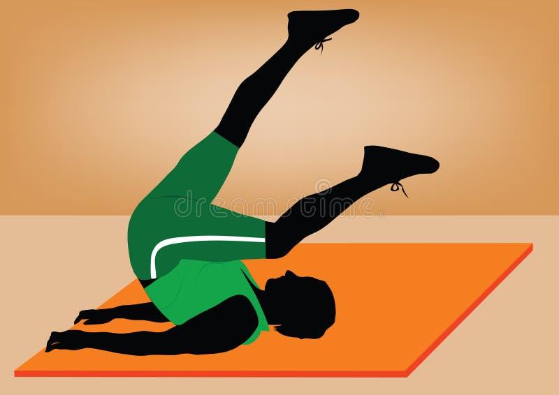 do dziewczyny potomstwom fizycznej fitness ilustracja wektor