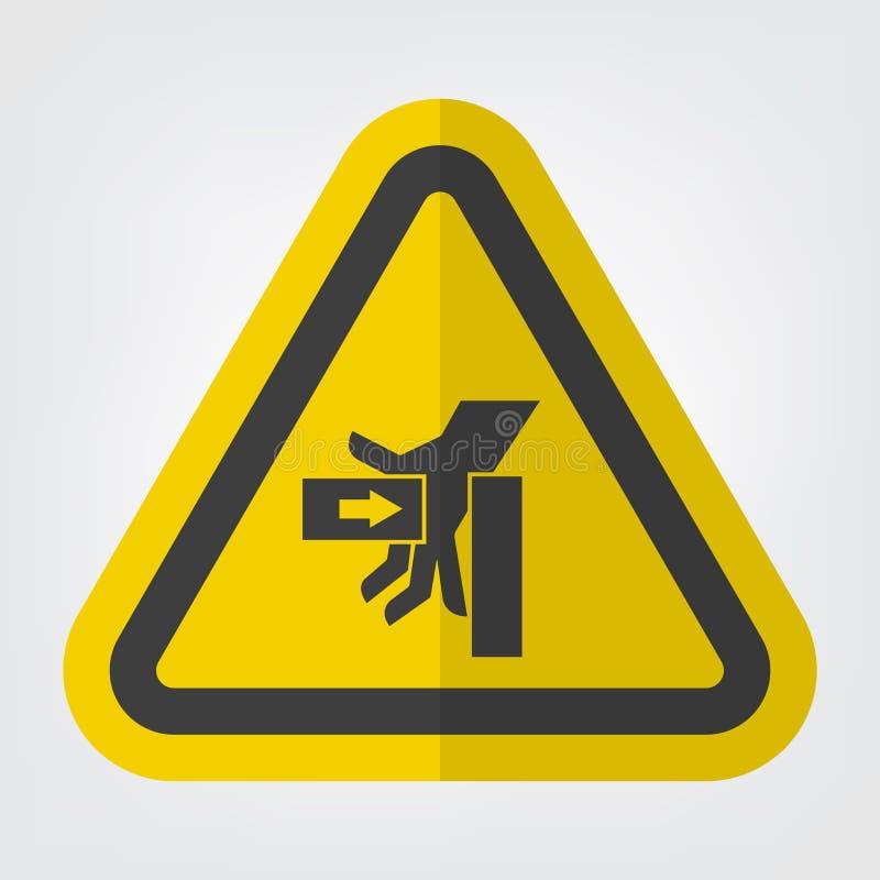 For?a do esmagamento de SHand do sinal esquerdo do s?mbolo, ilustra??o do vetor, isolado na etiqueta branca do fundo EPS10 ilustração royalty free