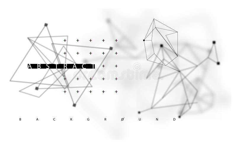 Do espaço fundo escuro poli poligonal abstrato baixo ilustração royalty free