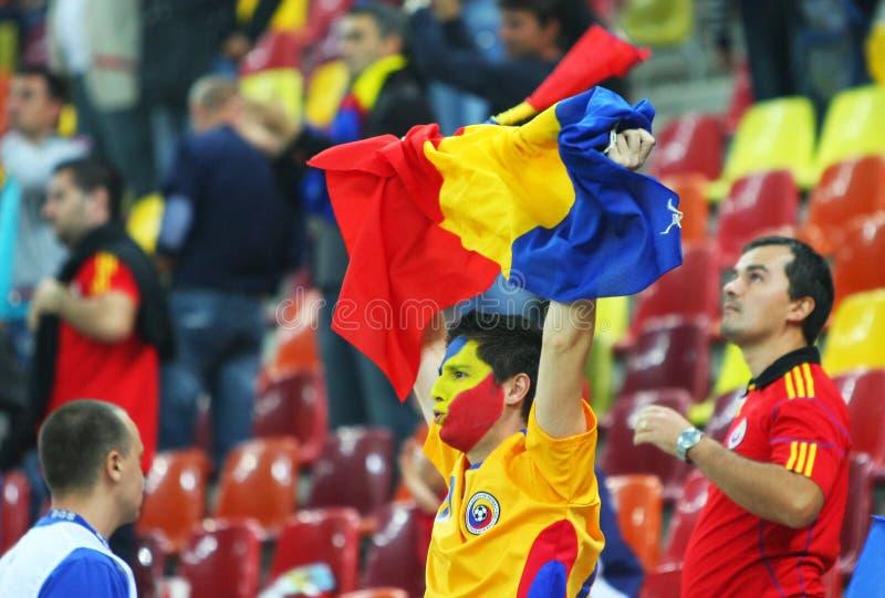 Do euro círculo 2012 de qualificação Romania-Belarus foto de stock