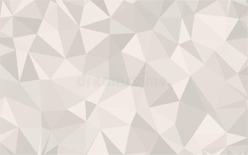 Do fundo as formas textured polis cinzentas abstratas do triângulo baixo no teste padrão aleatório projetam ilustração royalty free