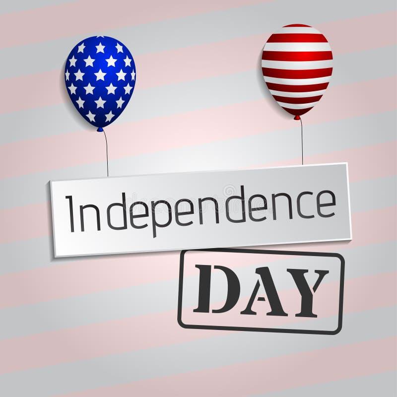 ô do fundo de julho cartão clássico Cartão do Dia da Independência dos EUA Ilustração do vetor ilustração royalty free