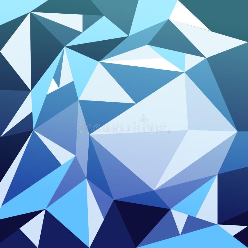 Do fundo geométrico do sumário do polígono conceito ultravioleta ilustração stock