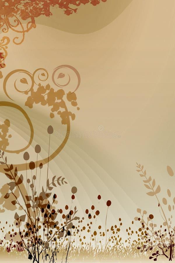 Do fundo imagem do projeto da tampa swirly ilustração stock