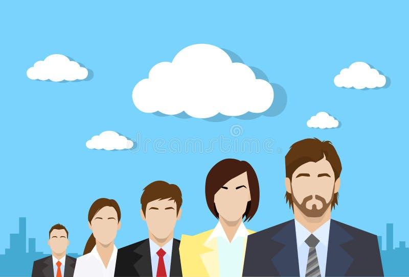 Do grupo da cor executivos do ser humano do perfil ilustração stock