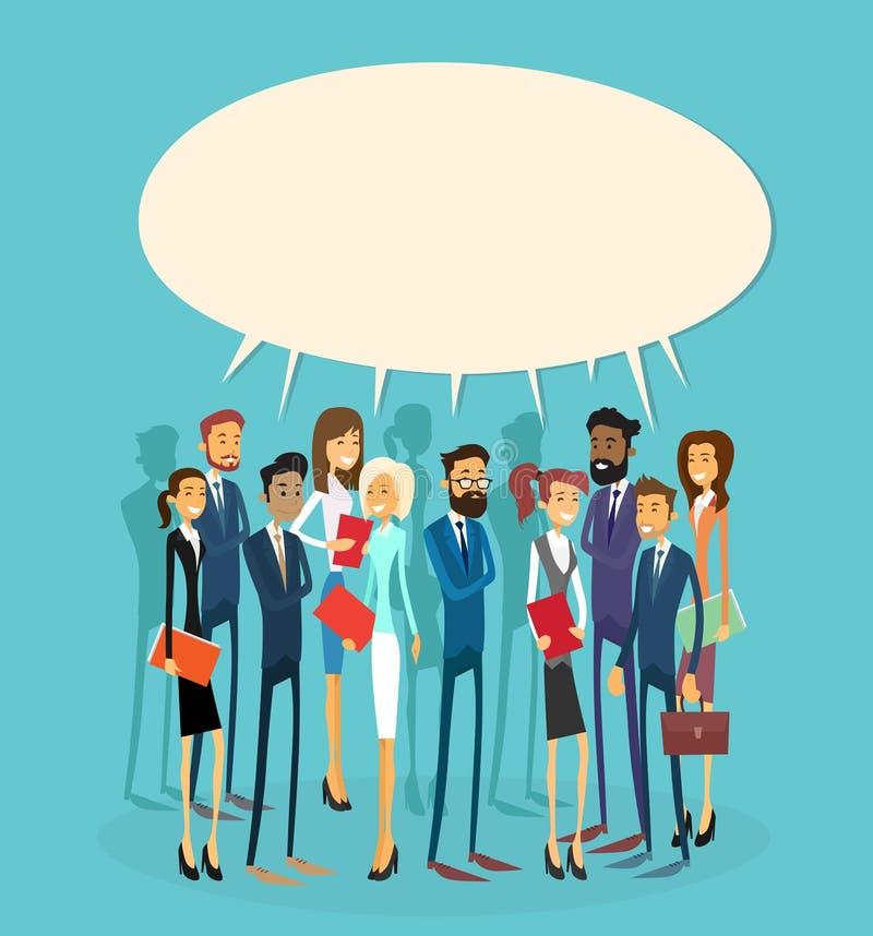 Do grupo do bate-papo executivos da bolha de uma comunicação ilustração royalty free