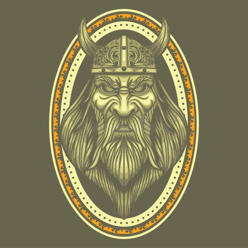 Do guerreiro medieval dos bra?os do revestimento da crista do vetor de Viking Swords b?rbaro antigo ilustração do vetor
