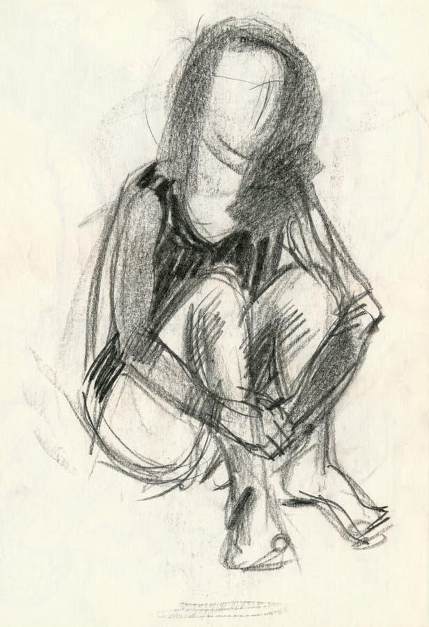 Download Do gymnastics, figure 3 stock illustration. Image of sketch - 7276253