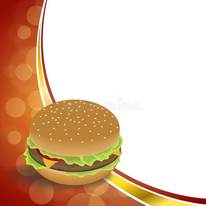 Do Hamburger abstrato do alimento do fundo ilustração alaranjada vermelha do quadro ilustração do vetor