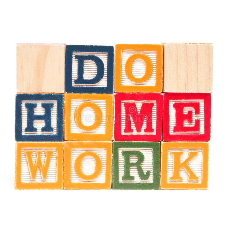 Do Home Work. A message to those needing to do home work stock photos