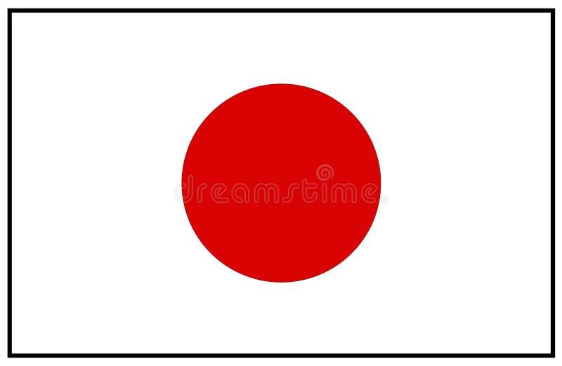 do Japonii bandery stylu wektora szklany royalty ilustracja