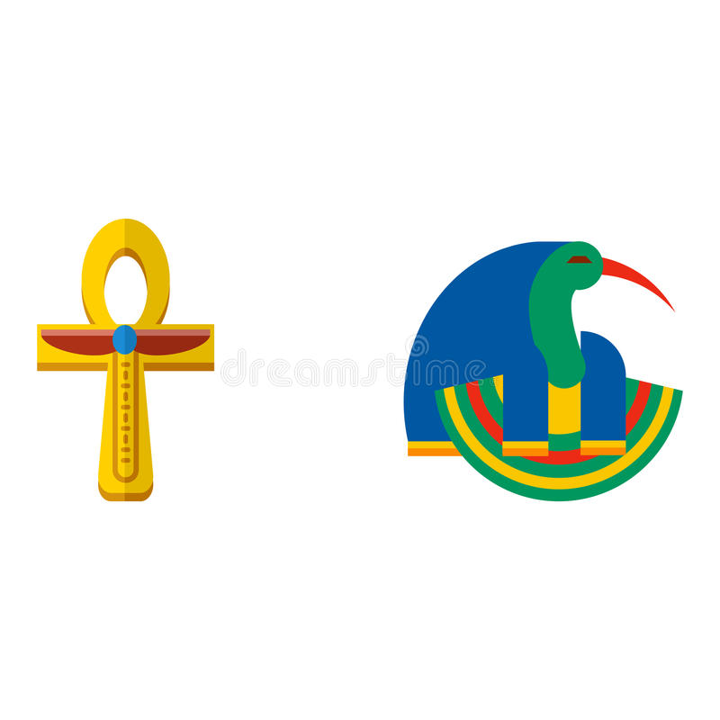 Do karnak antigo famoso histórico do curso do amun-ra dos deuses de Egito ilustração antiga do vetor da religião do faraó ilustração royalty free