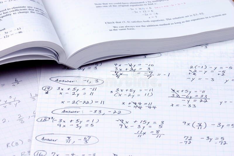 Do the math. Algebra book and homework