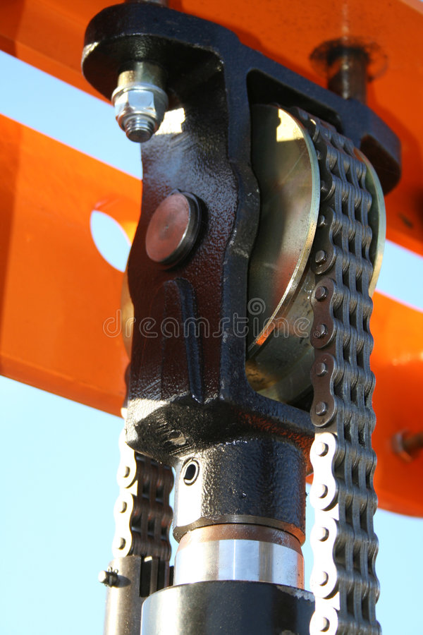 do mechanizmu hydraulicznego fotografia royalty free