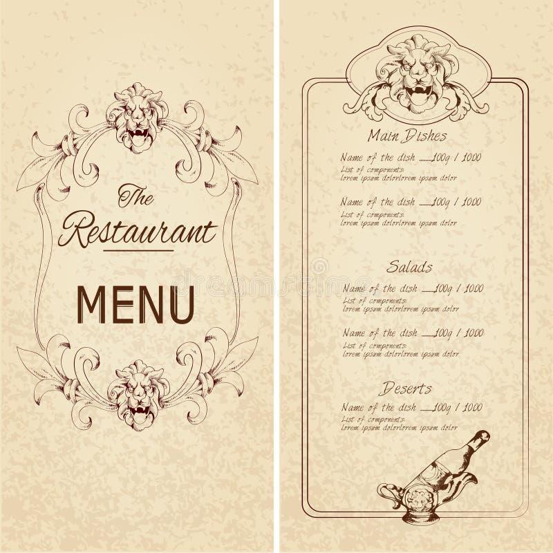 ? do molde do menu do restaurante ilustração royalty free