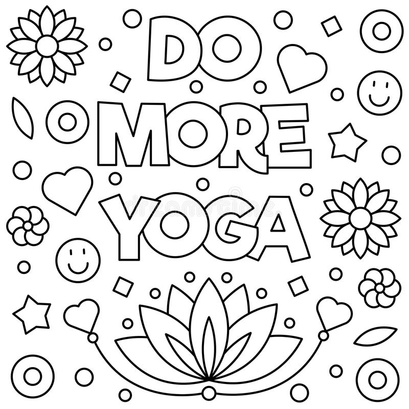 Yoga Coloring Page Stock Illustrations 7 537 Yoga Coloring
