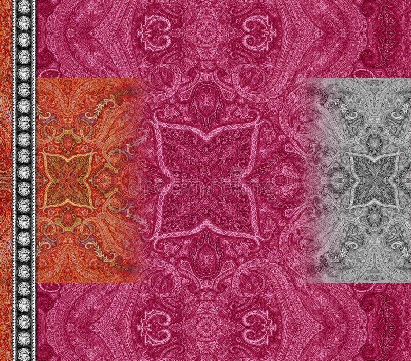 Do motivo digital de paisley do projeto do kurti do terno ilustração traseira colorida do papel de parede ilustração royalty free