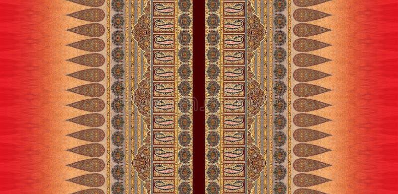 Do motivo digital do projeto do kurti do terno ilustração colorida do papel de parede da luva ilustração do vetor