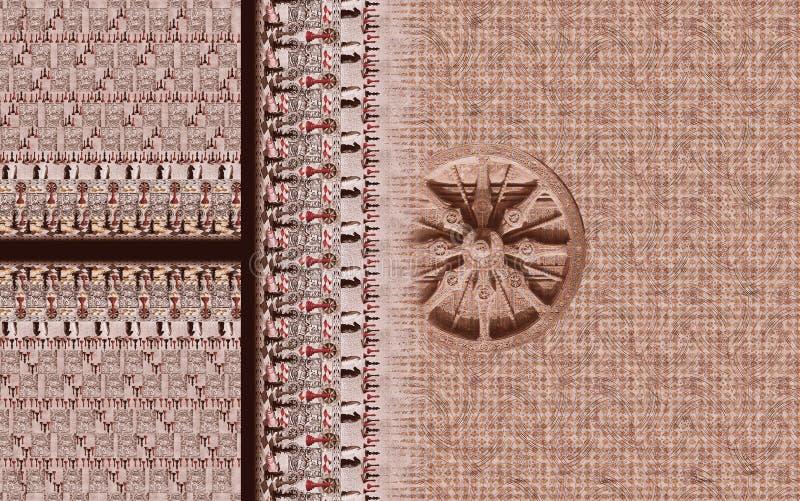 Do motivo digital do projeto do kurti do terno ilustração colorida do papel de parede ilustração royalty free