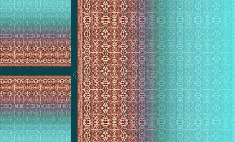 Do motivo digital do projeto do kurti do terno ilustração colorida do papel de parede ilustração stock