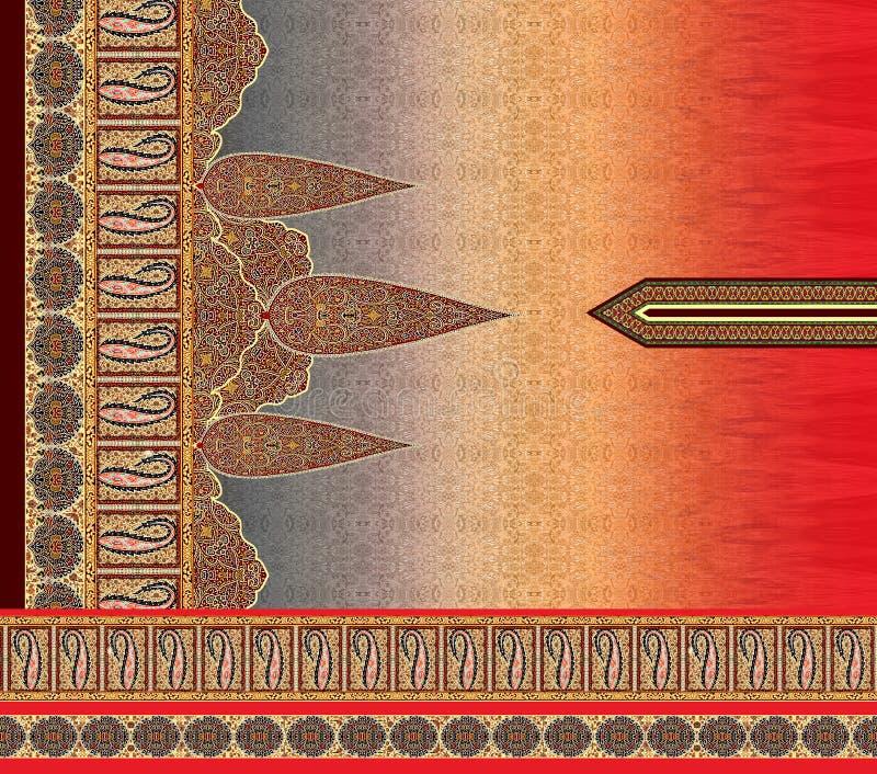 Do motivo digital do projeto do kurti do terno ilustração dianteira colorida do papel de parede ilustração royalty free