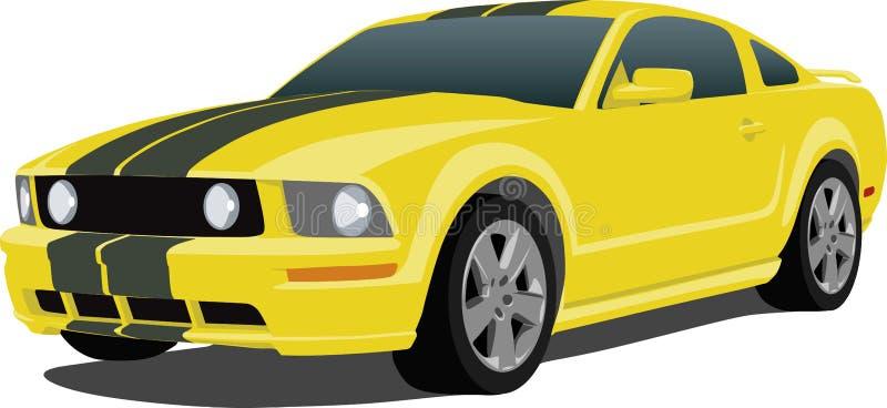 Do mustang carro 2005 de esportes ilustração stock