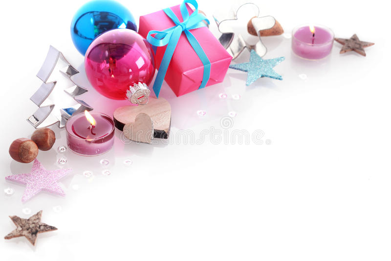 Do Natal vida colorida ainda com copyspace fotografia de stock royalty free