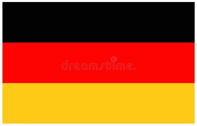 do Niemiec bandery okulary stylu wektora ilustracji