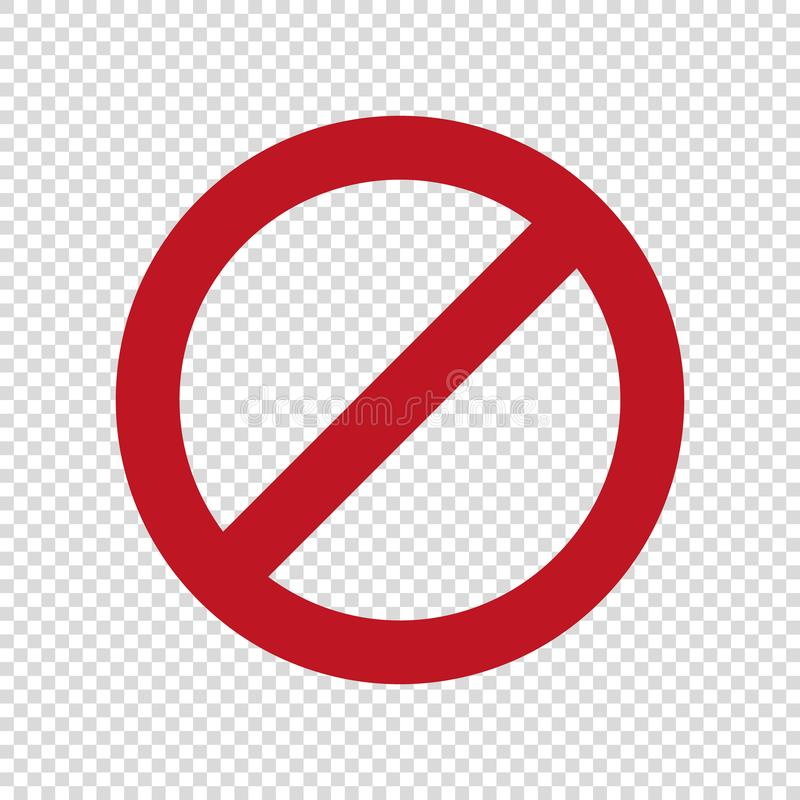 No parking sign.Stop do not enter vector icon. royalty free illustration