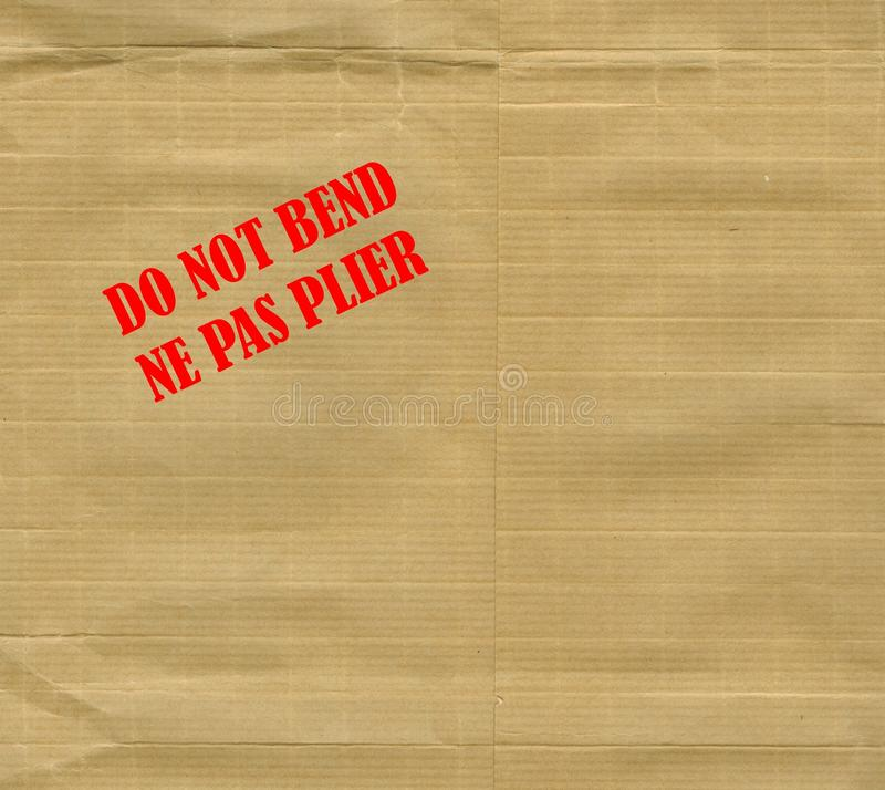 Download Do not bend stock photo. Image of english, paperboard - 35284480
