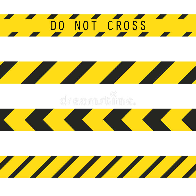 do not cross the line caution tape stock vector illustration of rh dreamstime com  caution tape border vector