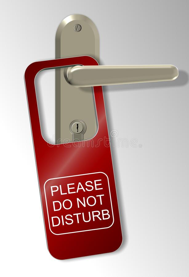 Download Do not disturb stock illustration. Image of hospitality - 22381740