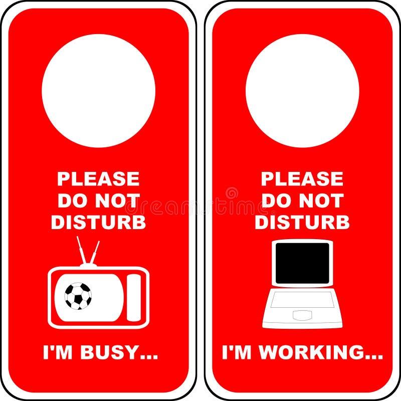 Download Do not Disturb [4] stock illustration. Illustration of privacy - 3570816