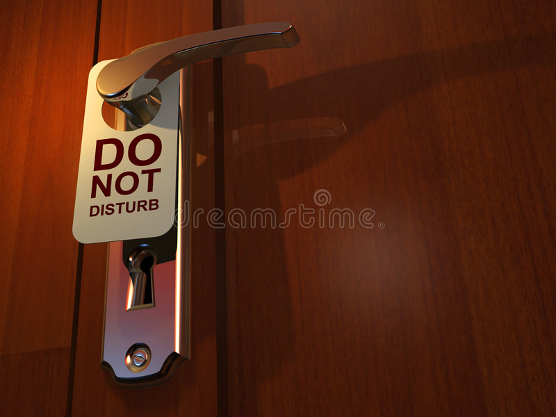 Download Do not disturb stock illustration. Image of doorknob, protection - 5406848