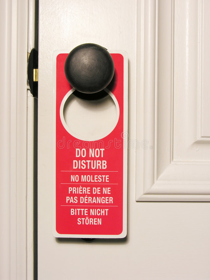 Download Do Not Disturb stock image. Image of sign, stayover, housekeeping - 668095
