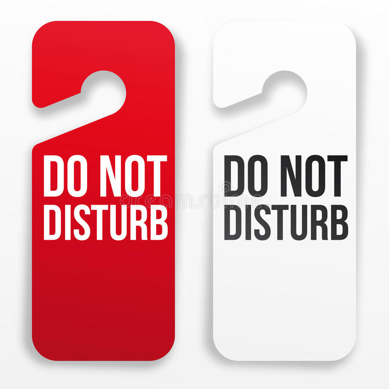 what does the do not disturb on iphone do do not disturb hotel door hanger stock illustration 21450
