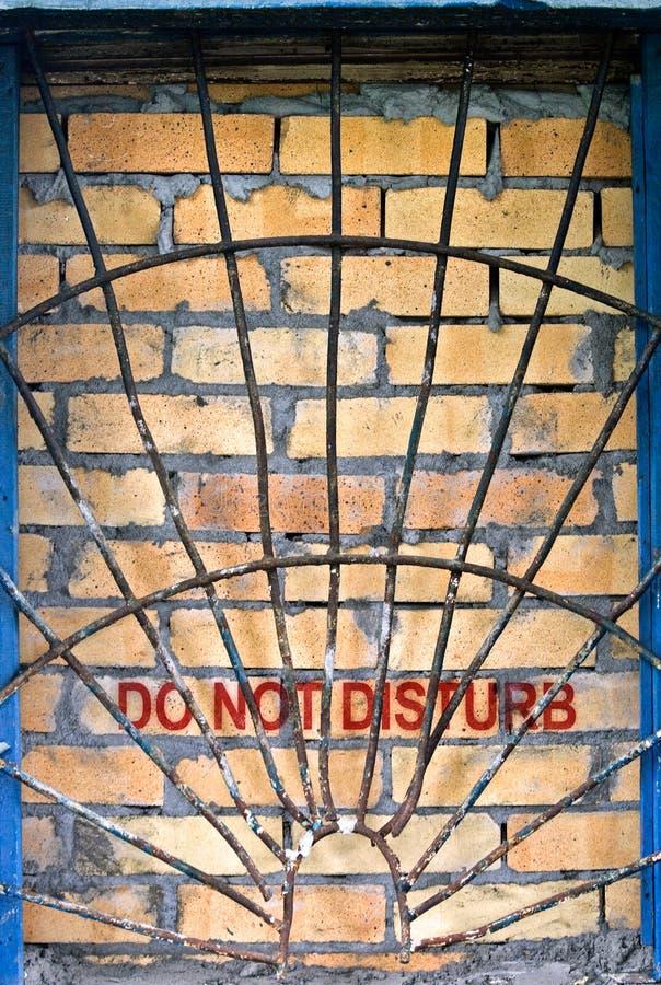Download Do Not Disturb Label On The Brick-encased Window Stock Image - Image: 20722327