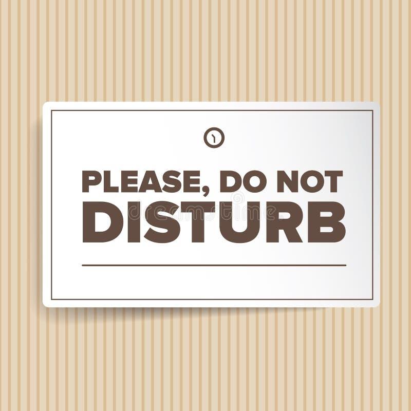 Do Not Disturb stock illustration