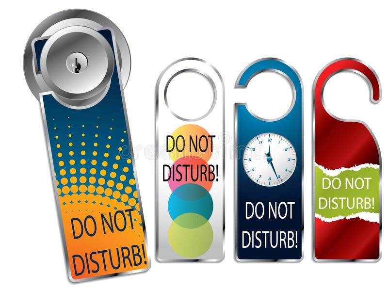 Download Do not disturb labels stock vector. Image of office, quiet - 15703529